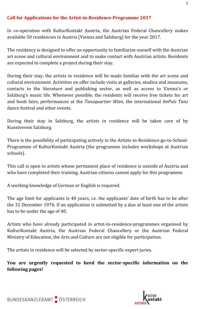 Call For Artist Residency English-1
