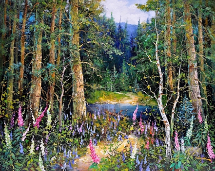 Woodland Trails by Tinyan Chan, 24x30, Oil