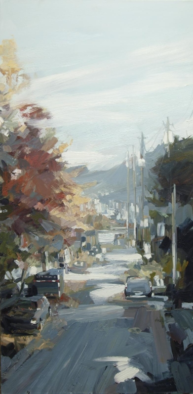 The Change on Woodland by Leanne Christie, 48x24, Oil