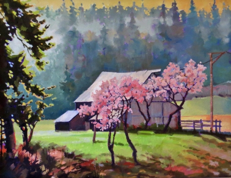 Ruckle Barn by Don Hodgins, 11x14, Oil