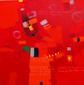 Red State by Mila Kostic, 30x30, Acrylic