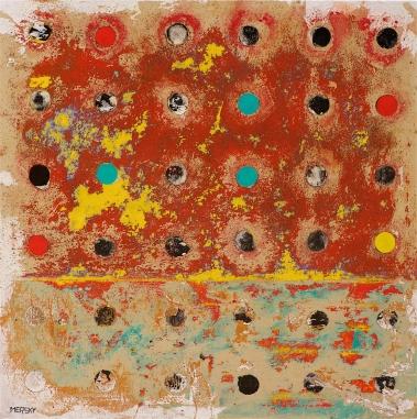Moonlight Mesa by Cindy Mersky, 36x36, Acrylic