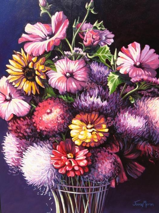 Mary's Bouquet by Joane Moran, 30x24, Oil